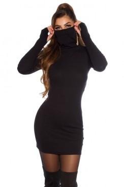 Платье-туника с маской и рукавами-митенками KouCla