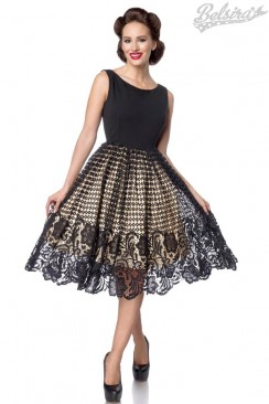 Винтажное вечернее платье с ажурной юбкой B484