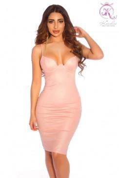 Платье под кожу с откровенным декольте KC5334
