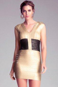 Бандажное платье с имитацией корсета