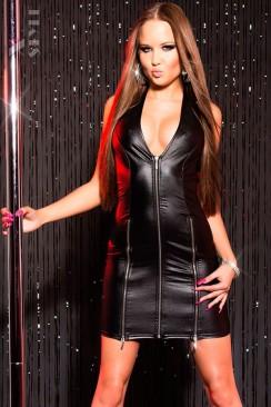 Блестящее платье с молниями KouCla
