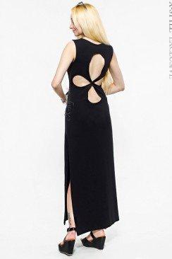 Длинное платье с прорезями на спине