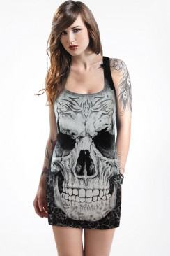 Платье-туника с черепом