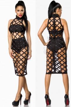 Полуоткрытое черное платье