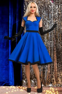 Платье в стиле Ретро (синий электрик)
