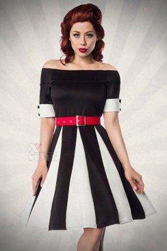 Черно-белое платье в стиле ретро