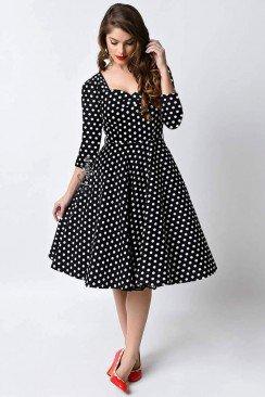 Платье в горох в стиле 50-х UF5216