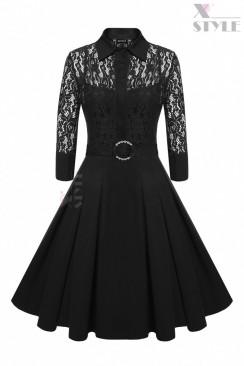 Винтажное платье-двойка