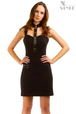 Облегающее платье с декольте и воротником X-Style