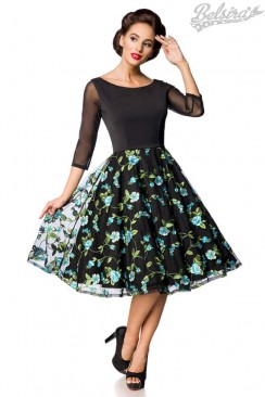 Винтажное вечернее платье с вышивкой B5391