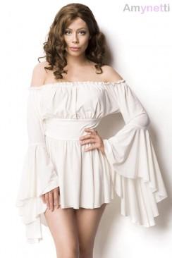 Белое платье-туника Amynetti