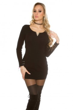 Платье-туника с декором на декольте MF5004