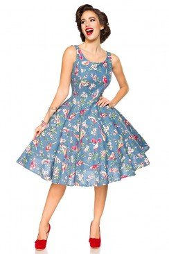 Платье с винтажным рисунком Belsira
