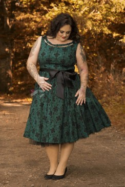 Платье Рокабилли с поясом (2XL-4XL)