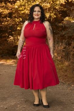Красное вечернее платье в стиле Ретро 2XL-4XL