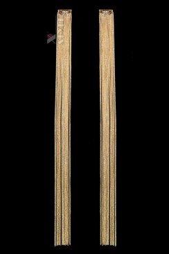 Длинные золотистые серьги с цепочками