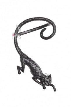 Черная серьга Cat Sith