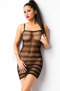 Прозрачное мини-платье