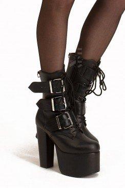 Ботинки на платформе и каблуке Demonia