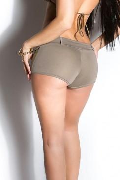 Короткие эластичные шорты (капучино)
