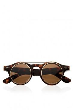 Круглые очки с откидными линзами Y5044