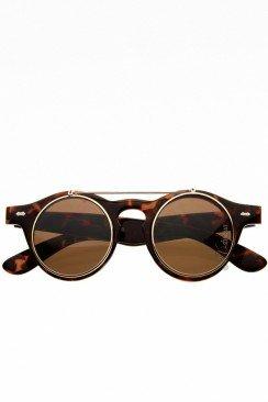 Круглые очки в леопардовой оправе