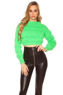 Пуловер женский MF1244 (неоновый зеленый)