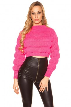 Пуловер женский цвета фуксии MF1245