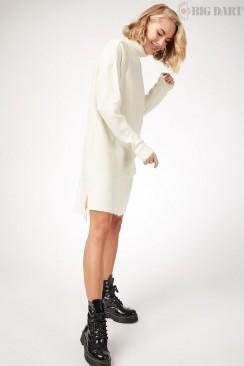 Белый свитер-туника BD5012