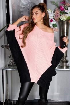 Платье-свитер лососевого цвета KouCla