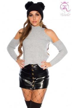 Водолазка-свитер с открытыми плечами KC1024