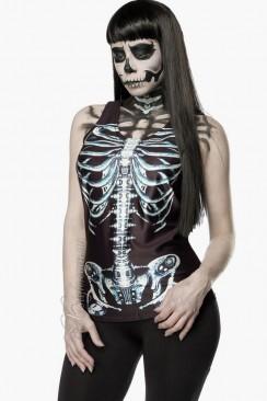 Топ с принтом скелета