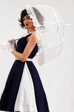 Белый ажурный зонт X02014