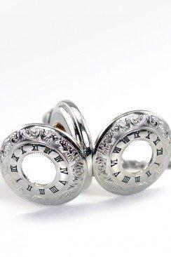 Карманные механические часы с открытым механизмом