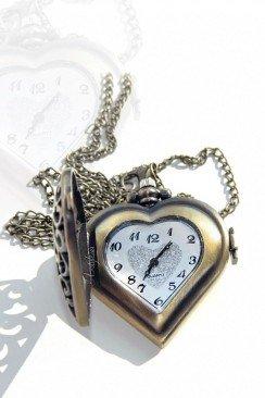 Кулон-часы Сердце VTC