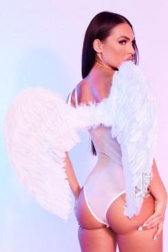 Большие крылья ангела белые (80 см) CC039