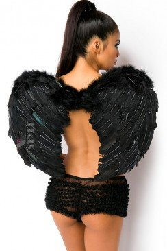 Черные крылья ангела (80 см)