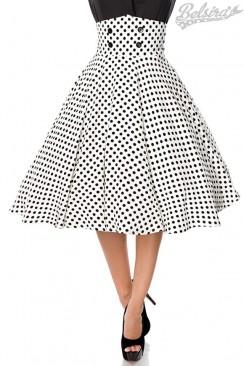 Винтажная юбка с высоким поясом