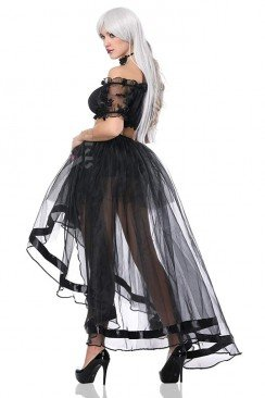 Прозрачная юбка со шлейфом