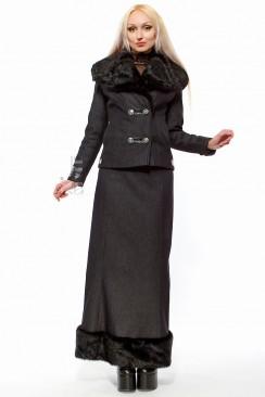 Длинная юбка на флисе с мехом X-Style