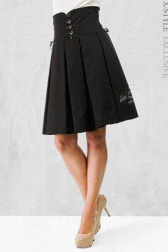 Плиссированная юбка с корсетом
