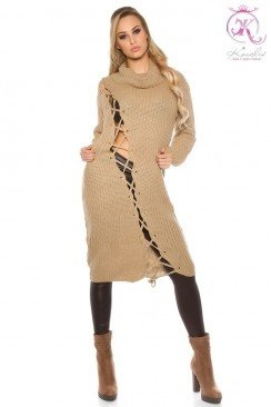 Вязаное платье KouCla (капучино)