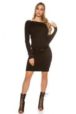 Вязаное платье средней длины IN5428