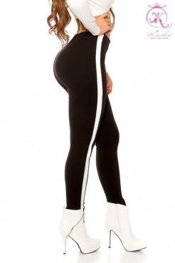 Черные брюки с лампасами KouCla