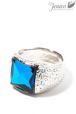 Родированное кольцо Swarovski Jenavi