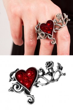 Оловянное кольцо с камнями Swarovski AG180