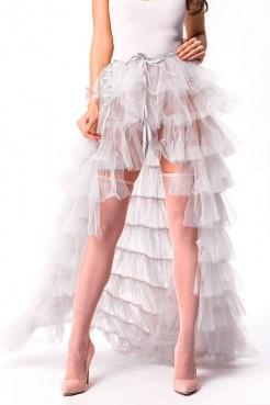 Белая юбка пачка со шлейфом X7169