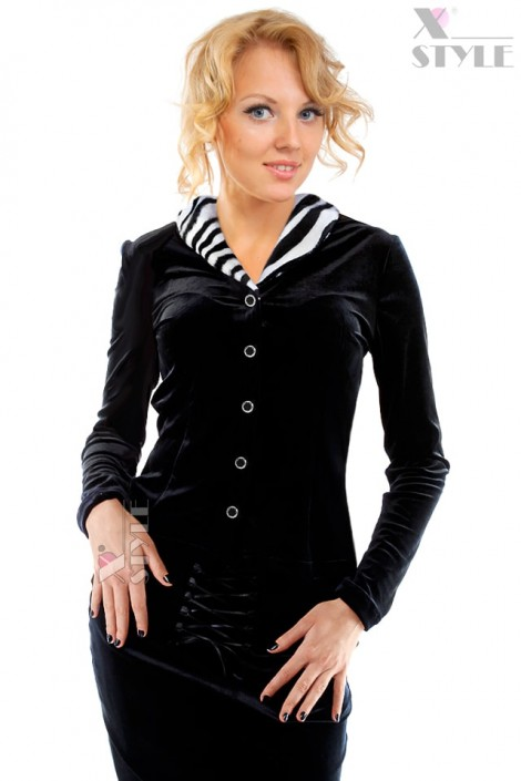 Блузка с мехом в стиле Ретро (101165)