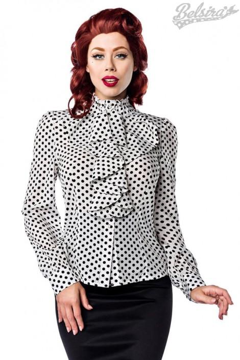 Ретро-блузка в горошек (101160)