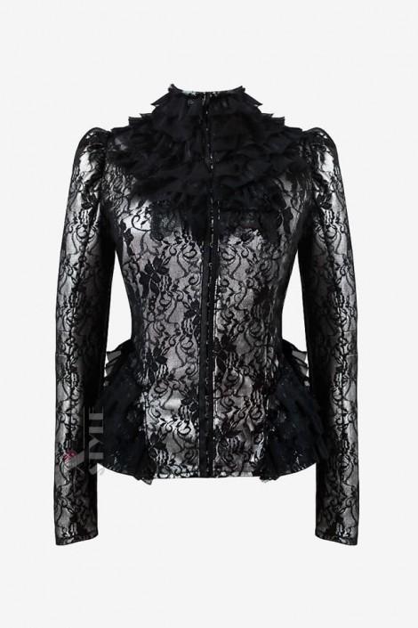 Винтажный пиджак с сеточкой X135 (114135)